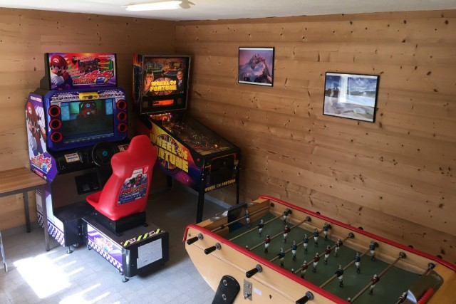 TV lounge and games room