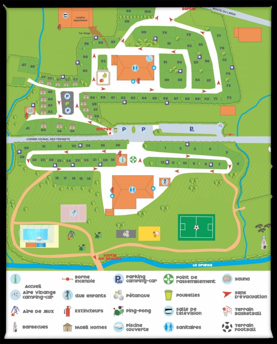 Map |campsite l'Oustalet | Châtel | Haute-Savoie