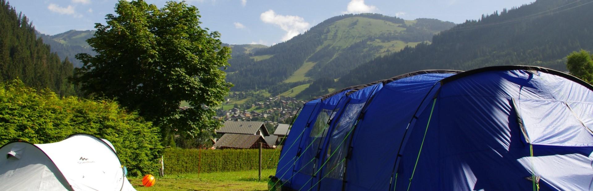 camping l'oustalet | 4 étoiles avec piscine | montagne en été | Châtel | Haute Savoie