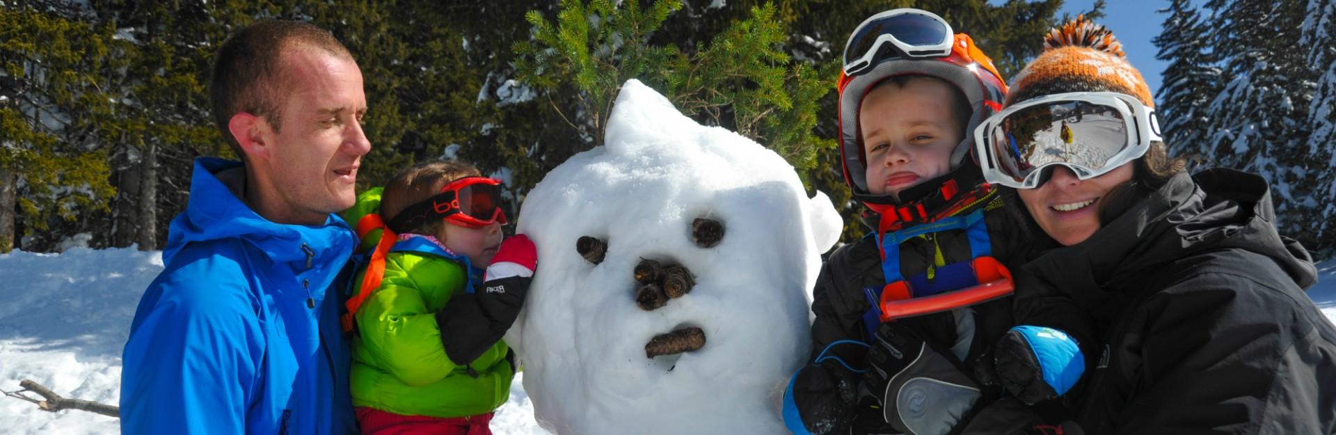 camping l'oustalet | ski en famille | hiver | châtel | station de ski familiale