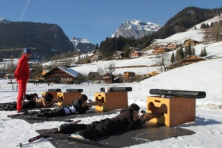 Espace nordique biathlon | La Chapelle d'Abondance | camping l'Oustalet | hiver | Châtel