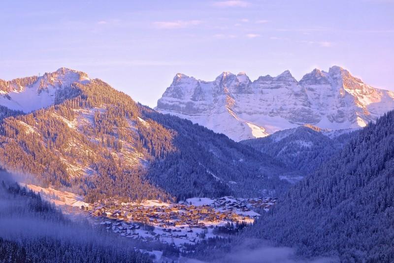 campsite l'oustalet | campsite in a ski resort | winter | châtel | portes du soleil | 1