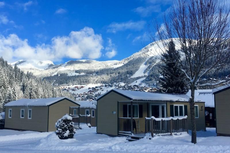 camping l'oustalet | caravaneige en station de ski | hiver | châtel | portes du soleil