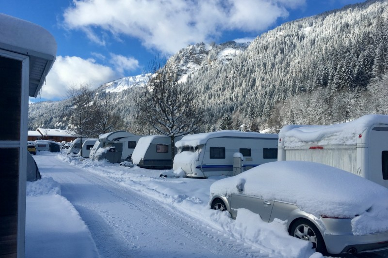campsite l'oustalet | campsite in a ski resort | winter | châtel | portes du soleil | 2