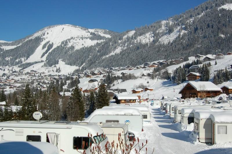 campsite l'oustalet | campsite in a ski resort | winter | châtel | portes du soleil | 4