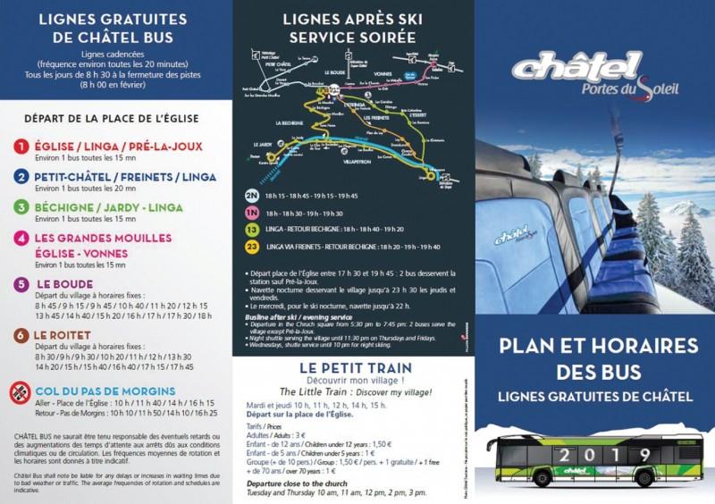 Horaires bus | camping l'Oustalet | Châtel | Hiver 2018/2019