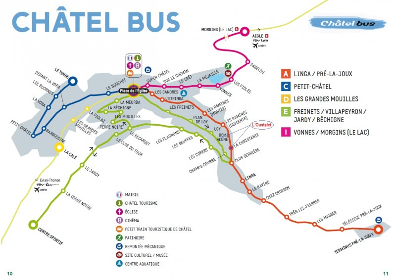 Châtel bus map | campsite l'oustalet | summer