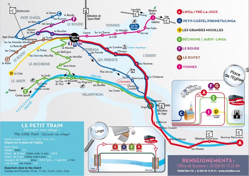 Châtel bus map | campsite l'Oustalet | winter 2016/2017