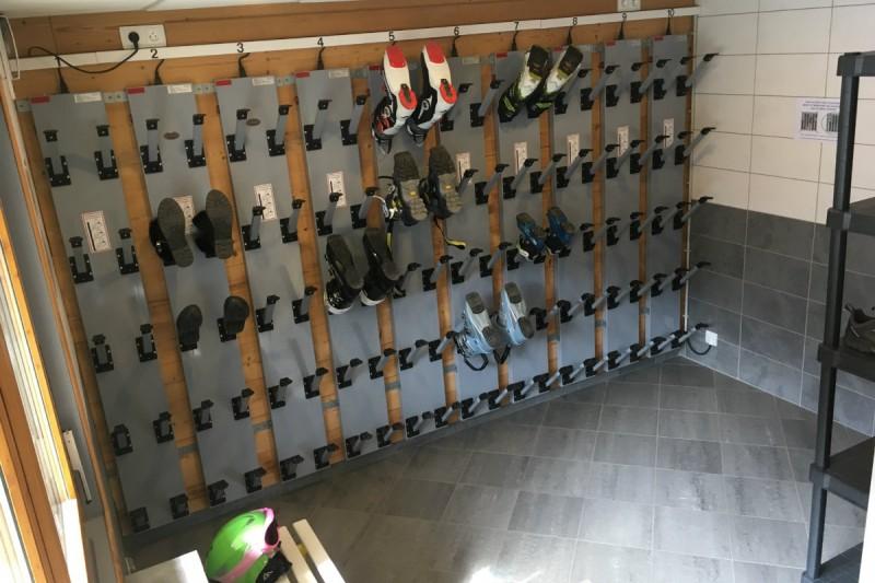 Ski boots storage room